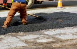 δρόμος κατασκευής κάτω νέα οδός Υόρκη πόλεων Στοκ φωτογραφίες με δικαίωμα ελεύθερης χρήσης