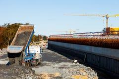 δρόμος κατασκευής κάτω Στοκ φωτογραφία με δικαίωμα ελεύθερης χρήσης