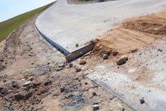 δρόμος κατασκευής κάτω Στοκ Φωτογραφίες