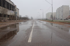 δρόμος υγρός Στοκ Εικόνες