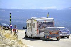 Δρόμος Mont Ventoux Στοκ εικόνα με δικαίωμα ελεύθερης χρήσης