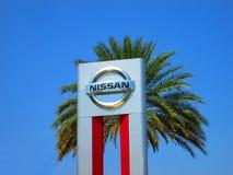 δρόμος s Σεπτέμβριος της Nissan μηχανών λογότυπων της Κίνας chengdu 14$ου 16$ου το 2011 ο 25$ος εμφανίζει στη δύση Στοκ εικόνες με δικαίωμα ελεύθερης χρήσης