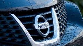 δρόμος s Σεπτέμβριος της Nissan μηχανών λογότυπων της Κίνας chengdu 14$ου 16$ου το 2011 ο 25$ος εμφανίζει στη δύση Στοκ Εικόνα