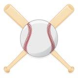 ρόπαλο του μπέιζμπολ σφα&iota απεικόνιση αποθεμάτων