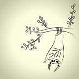 Ρόπαλο σε έναν κλάδο δέντρων Διανυσματική απεικόνιση