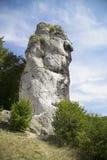 Ρόπαλο Hercules (Maczuga Herkulesa) σε Pieskowa Skala σε POL Στοκ εικόνες με δικαίωμα ελεύθερης χρήσης