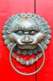 ρόπτρα της Κίνας lionhead Στοκ φωτογραφίες με δικαίωμα ελεύθερης χρήσης