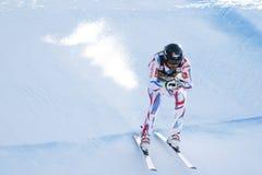 Ρότζερ Brice στο αλπικό Παγκόσμιο Κύπελλο σκι Audi FIS - RA των ατόμων προς τα κάτω Στοκ εικόνες με δικαίωμα ελεύθερης χρήσης