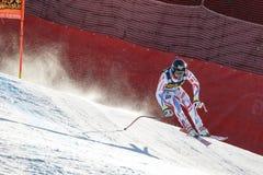 Ρότζερ Brice στο αλπικό Παγκόσμιο Κύπελλο σκι Audi FIS - RA των ατόμων προς τα κάτω Στοκ Εικόνες