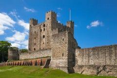 Ρότσεστερ Castle 12ο Castle και καταστροφές των οχυρώσεων Κεντ, νοτιοανατολική Αγγλία Στοκ Φωτογραφία
