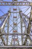 Ρόδα Βιέννη ferris κατασκευής μετάλλων στοκ φωτογραφία με δικαίωμα ελεύθερης χρήσης