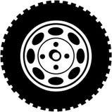 Ρόδα για τα κινούμενα σχέδια διανυσματικό Clipart αυτοκινήτων ή φορτηγών Στοκ Φωτογραφία