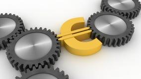 Ρόδα και ευρώ στοκ φωτογραφία με δικαίωμα ελεύθερης χρήσης
