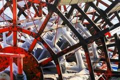 Ρόδα κουπιών Icicled Στοκ Φωτογραφία