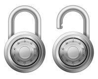 ρόδα λουκέτων κλειδωμάτων συνδυασμού Στοκ Φωτογραφία