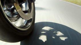 Ρόδα μοτοσικλετών απόθεμα βίντεο