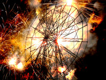 Ρόδα πολεμικού Ferris Στοκ εικόνες με δικαίωμα ελεύθερης χρήσης