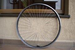Ρόδα ποδηλάτων με τα spokes Στοκ Εικόνες