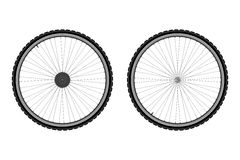 Ρόδα ποδηλάτων διανυσματική απεικόνιση