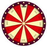 Ρόδα της τύχης Σημάδι παιχνιδιού ρουλέτα ελεύθερη απεικόνιση δικαιώματος