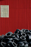 ρόδα τοίχων αυτοκινήτων Στοκ Φωτογραφία