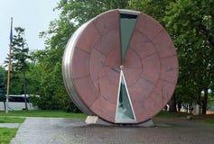 Ρόδα του χρόνου - γιγαντιαία κλεψύδρα στη Βουδαπέστη Στοκ Εικόνες