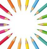 Ρόδα των χρωματισμένων μολυβιών διανυσματική απεικόνιση