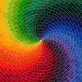 Ρόδα φάσματος φιαγμένη από τούβλα ΤΣΕ φάσματος χρώματος ουράνιων τόξων grunge Στοκ εικόνα με δικαίωμα ελεύθερης χρήσης