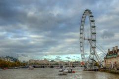 Ρόδα χιλιετίας (μάτι του Λονδίνου), Λονδίνο, UK Στοκ φωτογραφίες με δικαίωμα ελεύθερης χρήσης