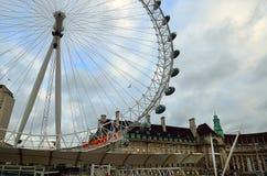 Ρόδα χιλιετίας (μάτι του Λονδίνου), Λονδίνο, UK Στοκ Εικόνα