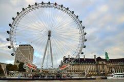 Ρόδα χιλιετίας (μάτι του Λονδίνου), Λονδίνο, UK Στοκ φωτογραφία με δικαίωμα ελεύθερης χρήσης