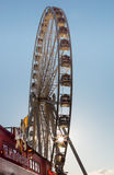 Ρόδα Ferris με το αστέρι ήλιων Στοκ εικόνα με δικαίωμα ελεύθερης χρήσης