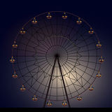 Ρόδα Ferris νύχτας Στοκ Εικόνες