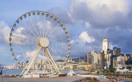 Ρόδα Ferris στο Χονγκ Κονγκ Στοκ φωτογραφία με δικαίωμα ελεύθερης χρήσης