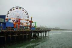 Ρόδα Ferris στο Santa Monica Pier Στοκ φωτογραφίες με δικαίωμα ελεύθερης χρήσης
