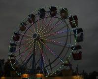 Ρόδα Ferris τη νύχτα Στοκ Εικόνες