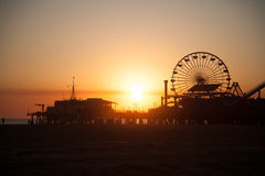 Ρόδα Ferris Santa Monica Pier Στοκ εικόνες με δικαίωμα ελεύθερης χρήσης
