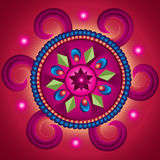 Ρόδα Mandala της τύχης Στοκ Φωτογραφίες