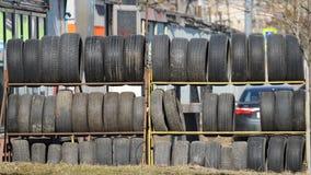 Ρόδες απορρίματος από το αυτοκίνητο Στοκ εικόνα με δικαίωμα ελεύθερης χρήσης