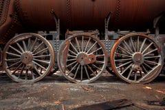 Ρόδες ενός παλαιού τραίνου Στοκ Φωτογραφία