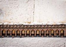 Ρόδες προσευχής σε Trongsa Dzong, Μπουτάν Στοκ φωτογραφία με δικαίωμα ελεύθερης χρήσης