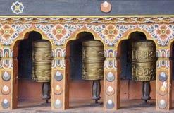 Ρόδες προσευχής στο Μπουτάν Στοκ εικόνα με δικαίωμα ελεύθερης χρήσης
