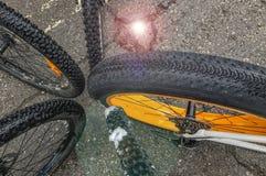 Ρόδες & ρόδες ποδηλάτων Στοκ Εικόνα