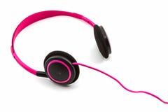 Ρόδινα ακουστικά Στοκ Εικόνα