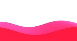 Ρόδινα και κόκκινα κύματα Στοκ εικόνα με δικαίωμα ελεύθερης χρήσης