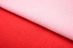Ρόδινα και κόκκινα υφάσματα βαμβακιού Στοκ Εικόνα