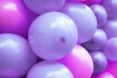 Ρόδινα και πορφυρά μπαλόνια Στοκ Φωτογραφία