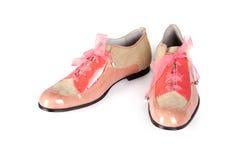 Ρόδινα παπούτσια γυναικών Στοκ φωτογραφία με δικαίωμα ελεύθερης χρήσης