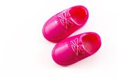 Ρόδινα πλαστικά παπούτσια παιχνιδιών Στοκ φωτογραφίες με δικαίωμα ελεύθερης χρήσης