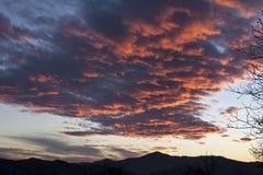 Ρόδινα σύννεφα στοκ φωτογραφία